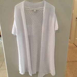 Coldwater Creek white swimsuit coverup